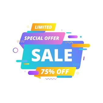 Progettazione del modello di banner di vendita, grande offerta speciale di vendita. banner di offerte speciali di fine stagione.