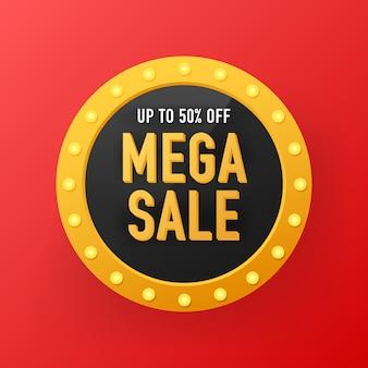 Progettazione del modello di banner di vendita, grande offerta speciale di vendita. vendita modello di banner design, offerta speciale di vendita mega