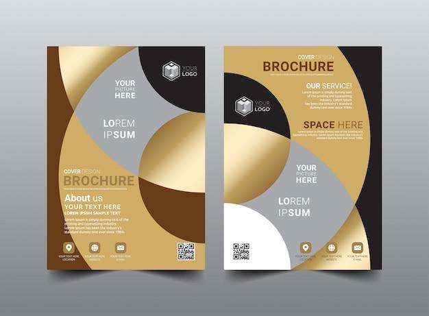 Progettazione del modello di brochure aziendale.