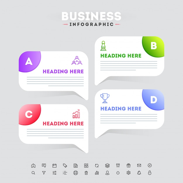Progettazione del modello di business infografica timeline in quattro fasi