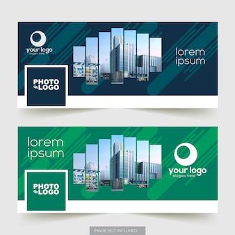 Progettazione del modello di copertina della timeline di facebook di affari corporativi