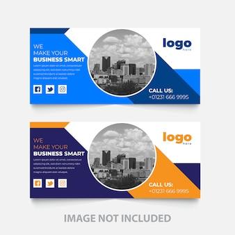 Progettazione del modello di copertina facebook azienda aziendale