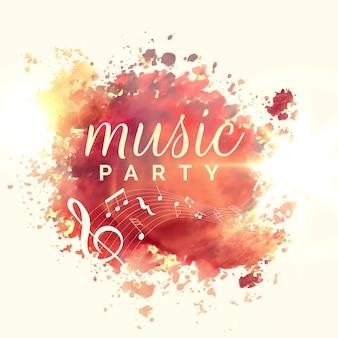 Progettazione del modello di evento dell'acquerello partito musica astratta