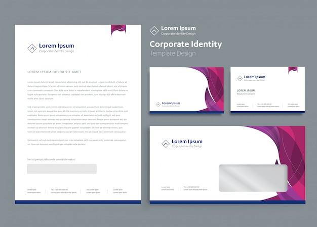 Progettazione del modello di identità corporativa di affari classici della cancelleria