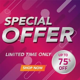 Progettazione del modello di offerta speciale banner di vendita