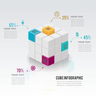 Progettazione del modello di opzioni infographic di affari moderni.