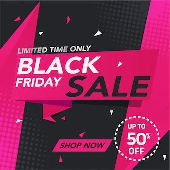 Progettazione del modello di venerdì nero dell'insegna di vendita
