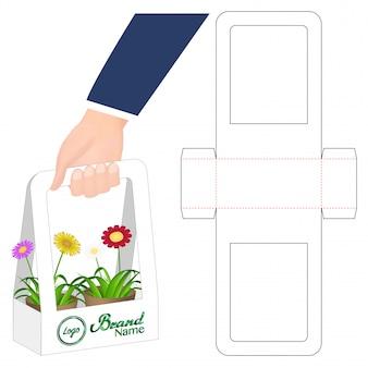 Progettazione del modello fustellato imballaggio della scatola