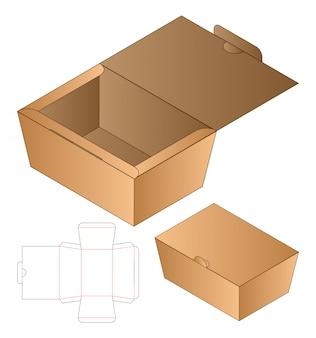 Progettazione del modello fustellato imballaggio della scatola.