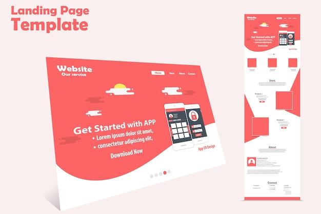 Progettazione del modello vettoriale pagina di destinazione del sito web