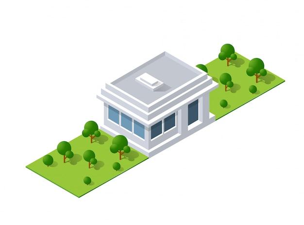 Progettazione del paesaggio isometrica