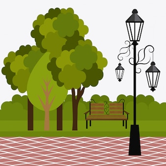 Progettazione del parco verde.