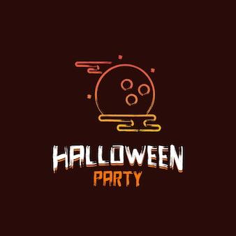 Progettazione del partito di halloween con il vettore del fondo di marrone scuro