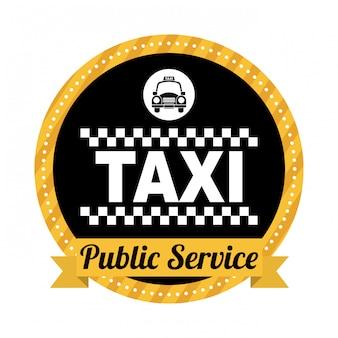Progettazione del taxi sopra l'illustrazione bianca di backgroundvector
