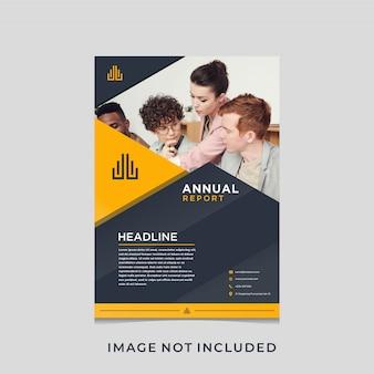 Progettazione del volantino del rapporto annuale con il concetto di lux