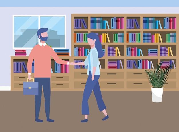 Progettazione dell'avatar della donna di affari e dell'uomo d'affari