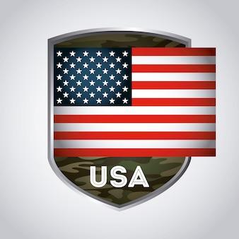 Progettazione dell'emblema degli sua, grafico dell'illustrazione eps10 di vettore