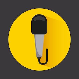 Progettazione dell'icona del microfono, grafico dell'illustrazione eps10 di vettore