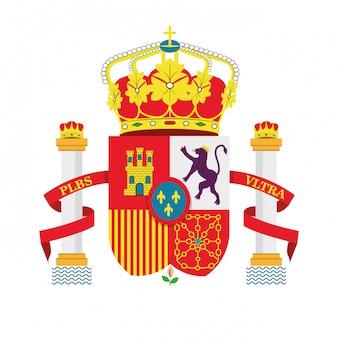 Progettazione dell'icona isolata icone della cultura spagnola