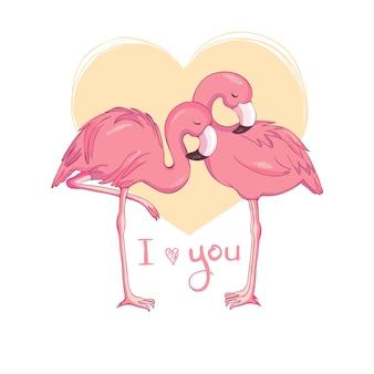 Progettazione dell'illustrazione dell'uccello del fenicottero