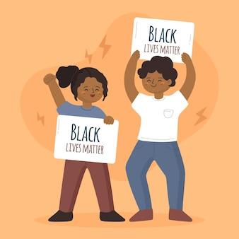 Progettazione dell'illustrazione della materia delle vite nere