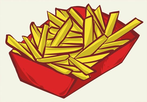 Progettazione dell'illustrazione delle patate fritte