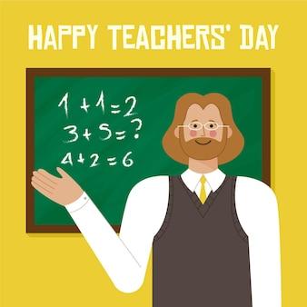 Progettazione dell'illustrazione di giorno degli insegnanti