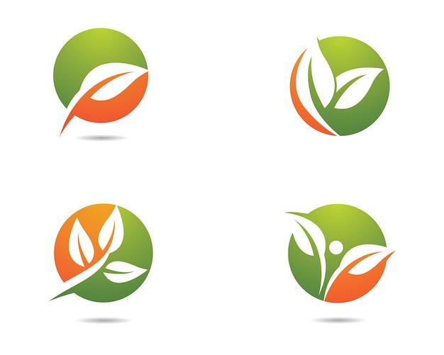Progettazione dell'illustrazione di logo di ecologia