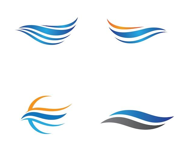 Progettazione dell'illustrazione di simbolo dell'onda