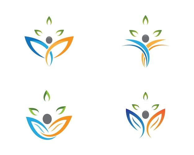 Progettazione dell'illustrazione di simbolo di salute umana