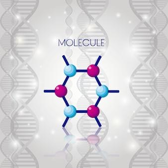 Progettazione dell'illustrazione di vettore dell'icona chimica della struttura della molecola