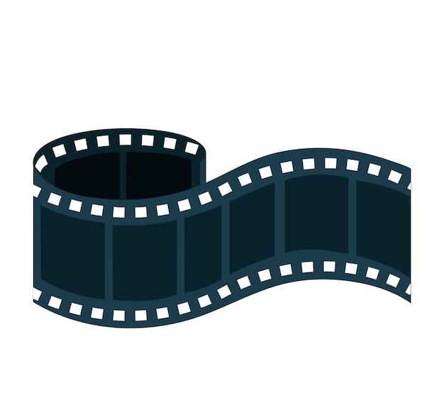 Progettazione dell'illustrazione di vettore dell'icona del film della registrazione di nastro