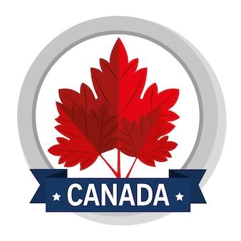 Progettazione dell'illustrazione di vettore dell'icona del sigillo di qualità del canada