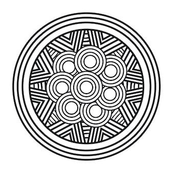 Progettazione dell'illustrazione di vettore dell'icona isolata arte della mandala
