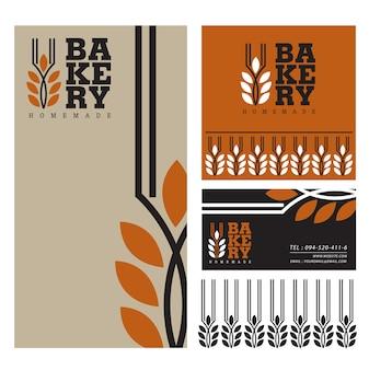 Progettazione dell'illustrazione di vettore di logo del modello del menu del forno