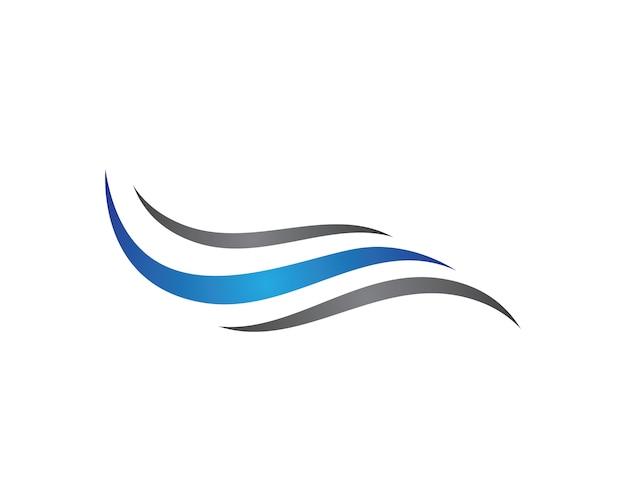Progettazione dell'illustrazione di vettore di simbolo dell'onda