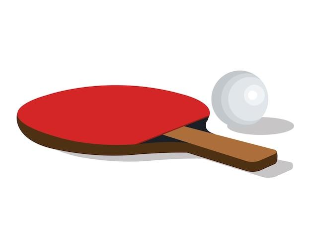 Progettazione dell'illustrazione di vettore di sport dell'attrezzatura di ping-pong