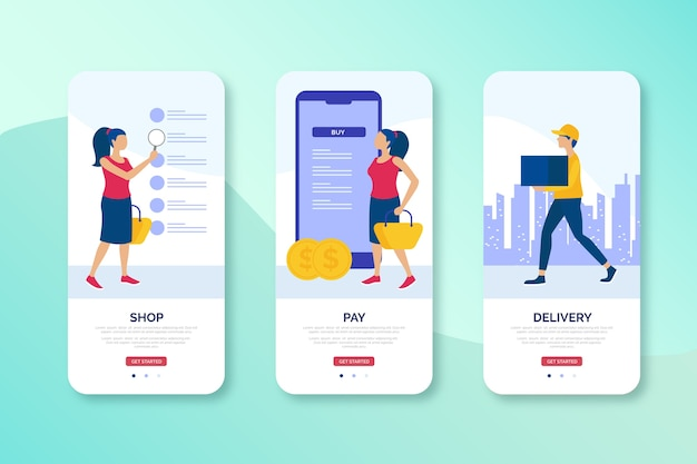 Progettazione dell'interfaccia mobile del negozio online