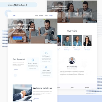 Progettazione dell'interfaccia utente del modello del email di affari e finanza