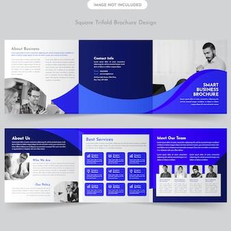 Progettazione dell'opuscolo di business square trifold