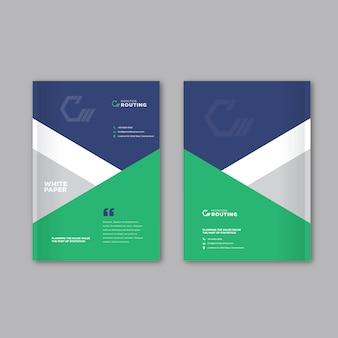 Progettazione della copertura dell'opuscolo di affari corporativi