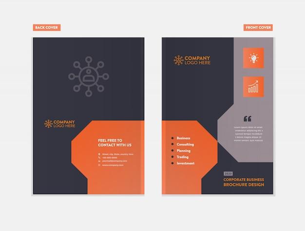 Progettazione della copertura dell'opuscolo di affari