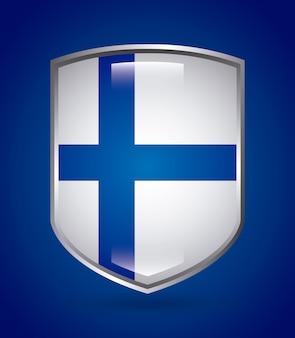 Progettazione della finlandia sopra l'illustrazione blu di vettore del fondo