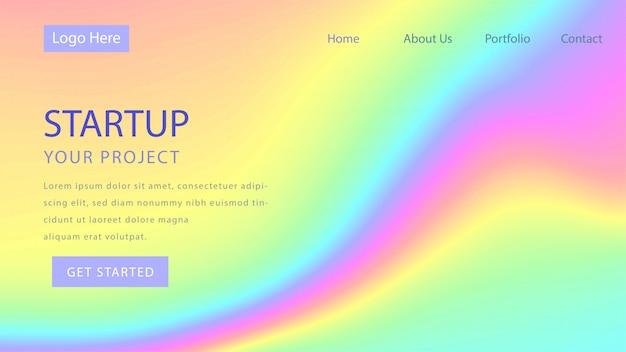 Progettazione della pagina di destinazione del concetto startup di affari.