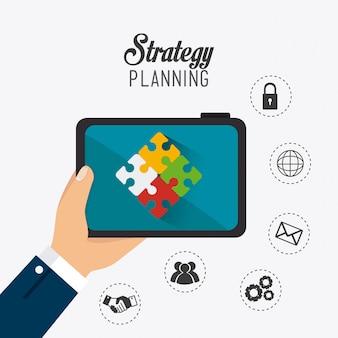 Progettazione della strategia aziendale.