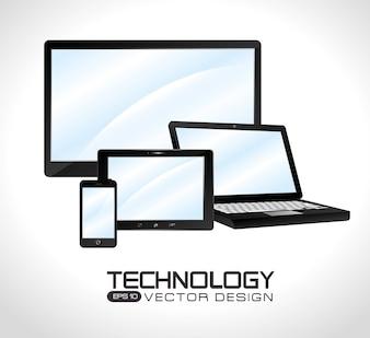 Progettazione della tecnologia, illustrazione vettoriale.