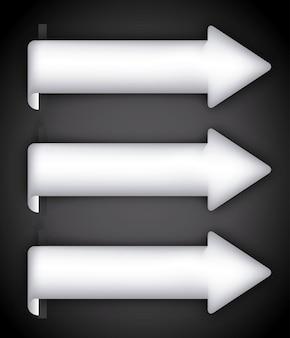 Progettazione delle frecce sopra l'illustrazione di vettore del fondo nero