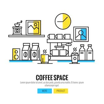 Progettazione dello spazio caffè