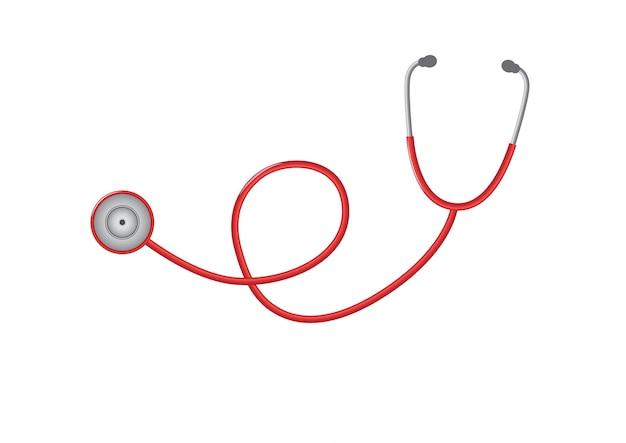 Progettazione dello stetoscopio sull'illustrazione.