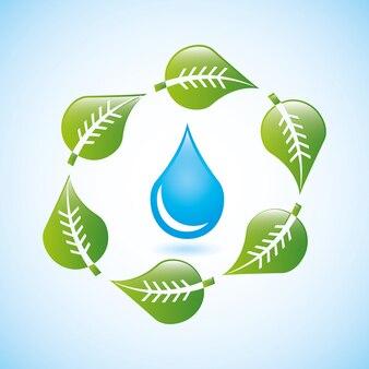 Progettazione di acqua su sfondo blu illustrazione vettoriale